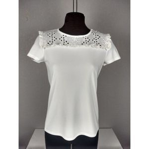 Karl Lagerfeld Top with Eyelet Lace NWT XS